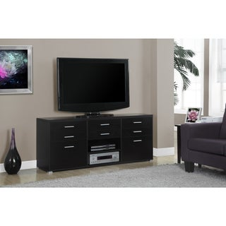 Cappuccino Hollow-core 8-drawer 60-inch TV Console