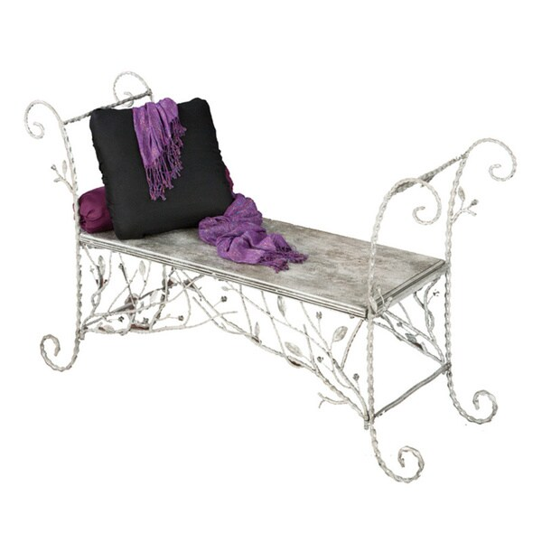 Stamped Metal Decorative Bench
