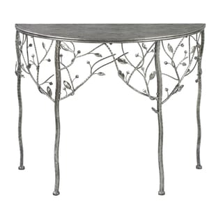 Stamped Metal Lune Table