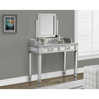 Brushed Silver Mirrored 36-inch Vanity
