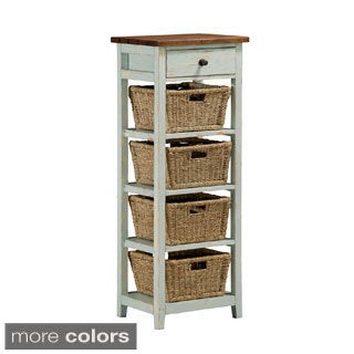 Hillsdale Tuscan Retreat 4 Basket and 1 Drawer Open Side Stand