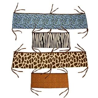 Jazzie Jungle Boy Crib Bumper-Rail Cover