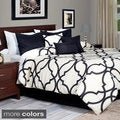 Lavish Home 7-piece White Trellis Pattern Comforter Set