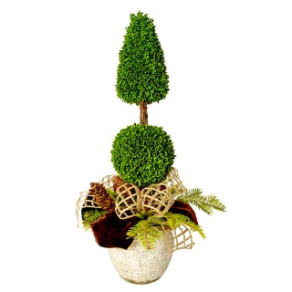 Ceramic Pot Cone and Ball Topiary