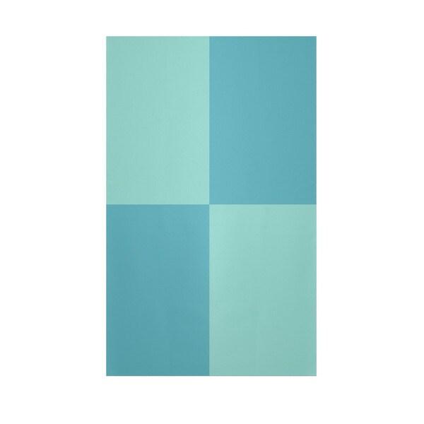 Decorative Geometric Aqua And Bahama Polyester Area Rug (4