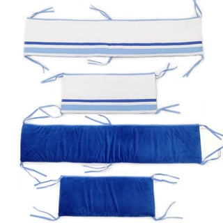 Simplicity Blue Crib Bumper-Rail Cover