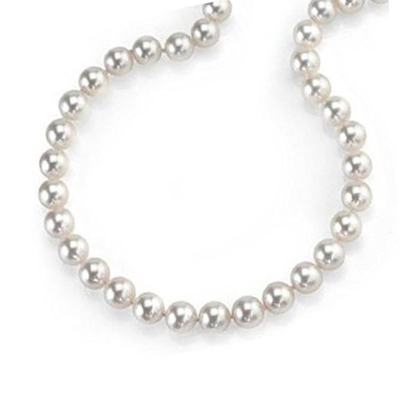 14k Gold 'AA' Cultured Freshwater Pearl Necklace with Adjustable Clasp (10-11 mm)