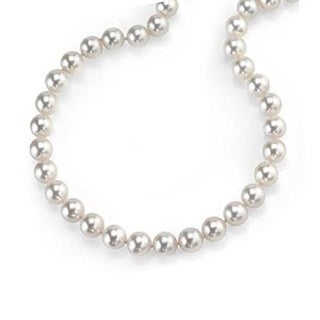14k Gold Freshwater Pearl Necklace with Adjustable Clasp (10-11 mm)