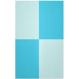 Decorative Geometric Omar and Turquoise Polyester Area Rug (2' x 3')