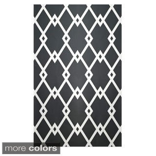 Decorative Geometric Polyester Area Rug (2' x 3')