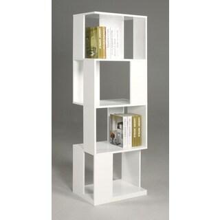 Serina White Modern Open Sided Book Shelf