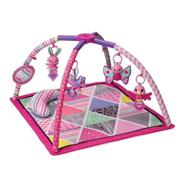 Infantino Lil' Gems Twist and Fold Activity Gym in Pink