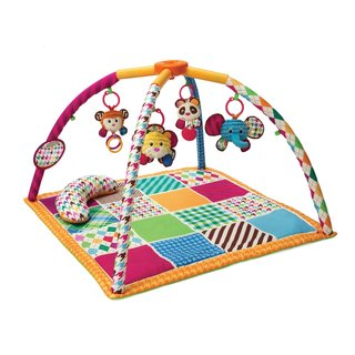 Infantino Twist and Fold Activity Gym Mat in Safari Fun