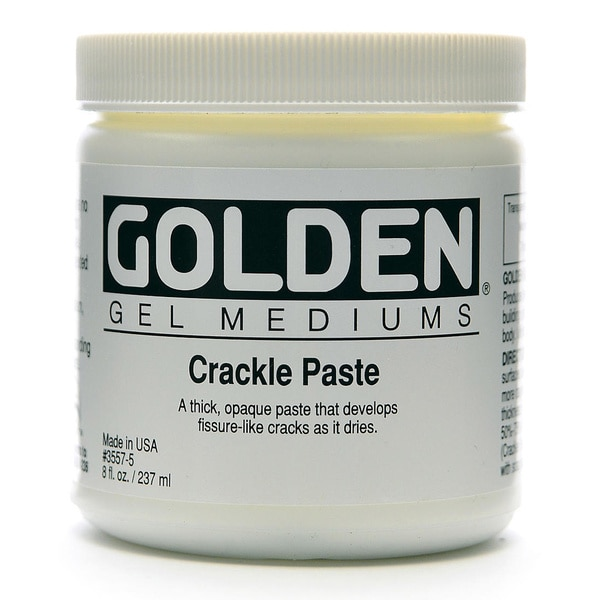 Golden Crackle Paste Medium