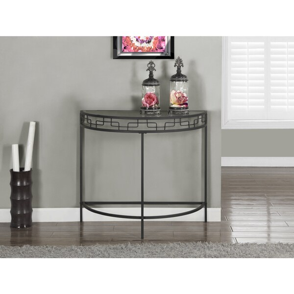 Charcoal grey metal 36 inch hall console table overstock for 36 inch console table