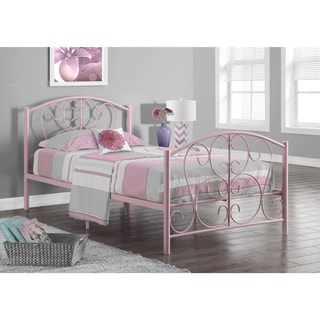 Pink Metal Twin-size Bed Frame