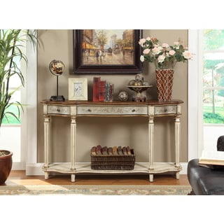 Scalloped 3-Drawer Console Table