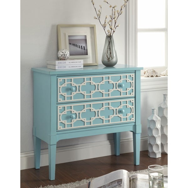 Pastel Blue 2-Drawer Chest