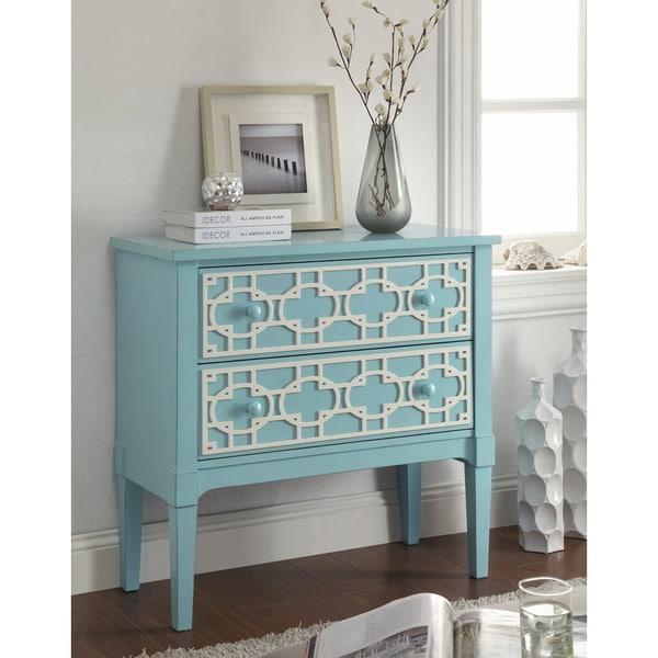 Pastel Blue 2-Drawer Chest