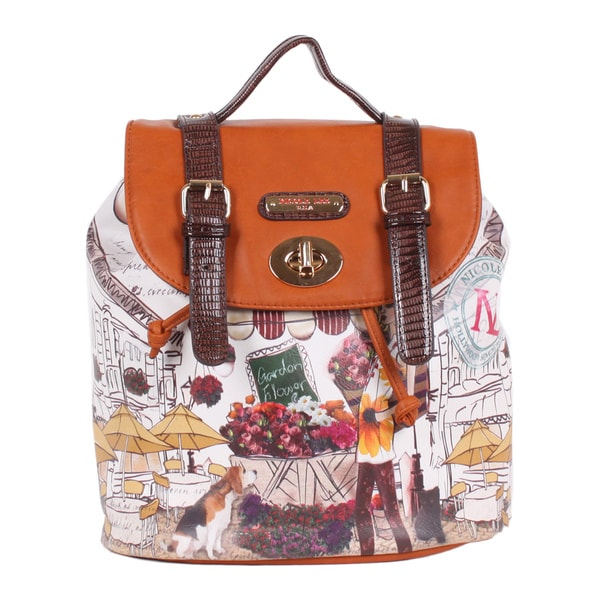 Nicole Lee Garden Flower Print Backpack