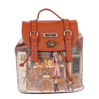 Nicole Lee Patisserie Print Backpack