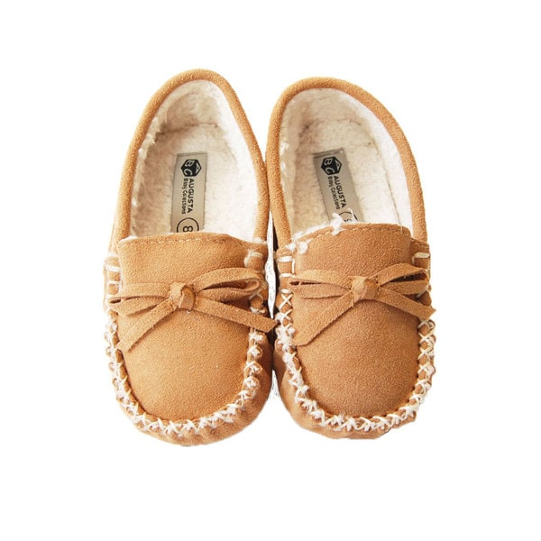 Augsta Toddler Fur Lined Moccasin with Gommino Sole