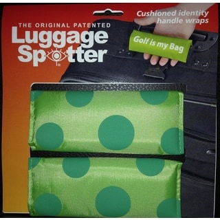 Bright Lime/Blue Polka Dot Original Patented Luggage Spotter