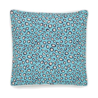 Collier Campbell Leopard Trail Teal Decorative Throw Pillow