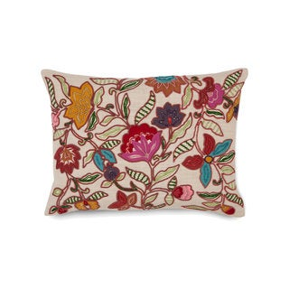 Collier Campbell Leopard Trail Floral Decorative Throw Pillow
