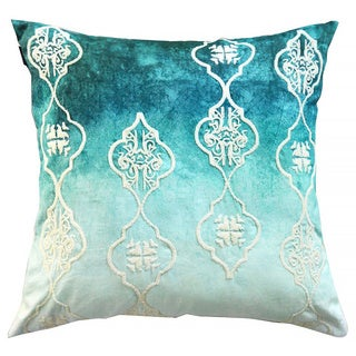 Handcrafted Beaded Ombre Decorative 20-inch Throw Pillow