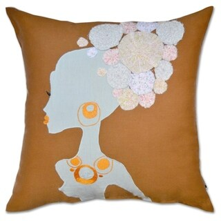 Patchwork Lady Decorative 18-inch Designer Throw Pillow