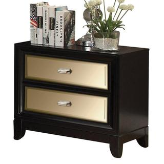 Drake Night table with 2 Mirrored Drawers