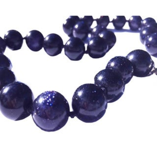 Madame Earth Blue Goldstone Necklace Set