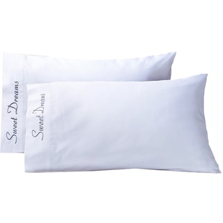 Luxor Treasures Cotton 'Sweet Dreams' 500 Thread Count Pillowcase (Set of 2)