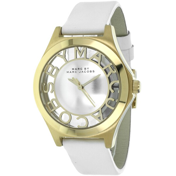 Marc Jacobs Women's MBM1339 Henry Round White Strap Watch