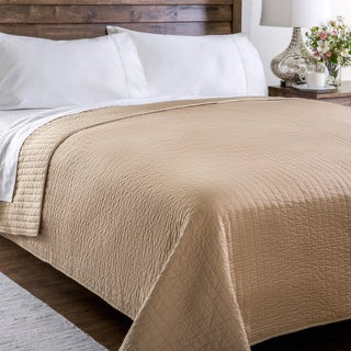 Montpellier Taupe Cotton Coverlet