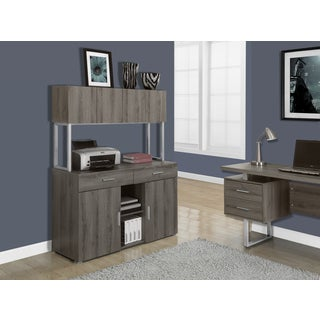 Dark Taupe Reclaimed-look 48-inch Office Credenza