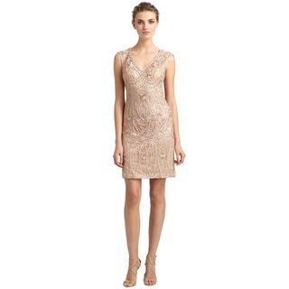 Sue Wong Intricate Soutache Embroidery Keyhole Back Dress