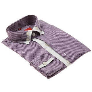 Elie Balleh Boys Slim Fit Striped Dress Shirt