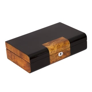 10-watch Case in Ebony with Wood Trim