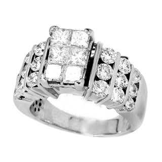 14k White Gold 3ct TDW Diamond Engagement Ring (H-I, I1-I2)