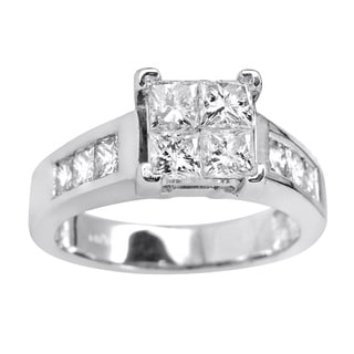 14k White Gold 2 1/2ct TDW Diamond Bridal Ring Set (I-J, SI3)