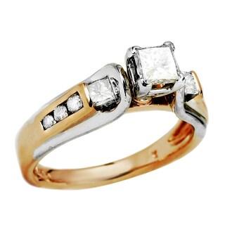 14k Two-tone Gold 3/4ct TDW Diamond Engagement Ring (I-J, SI3)