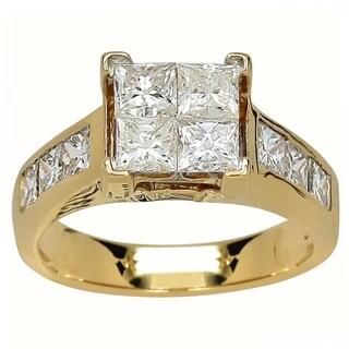 14k Yellow Gold 1ct TDW Diamond Engagement Ring (I-J, I1-I2)
