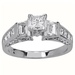 14k White Gold 1 1/2ct TDW Diamond Engagement Ring (I-J, SI1-SI2)