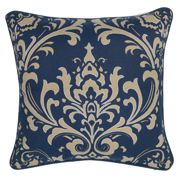 Paisley Floral Crown 20-inch Decorative Throw Pillow
