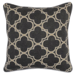 Kosas Home Rachel Geo Grey 20-inch Decorative Throw Pillow