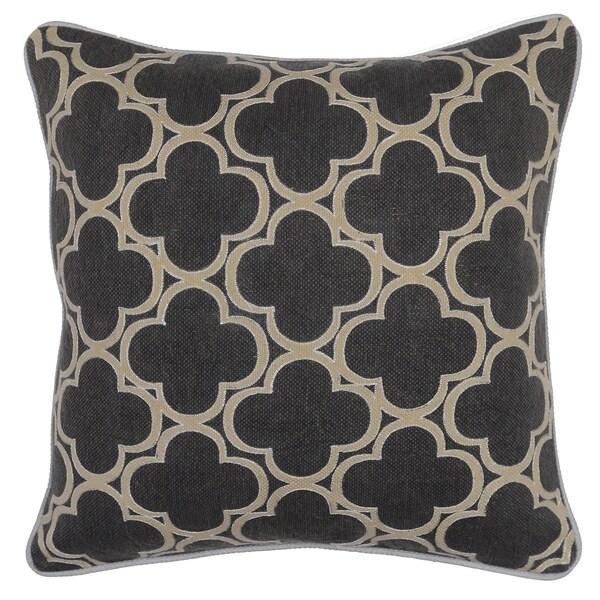 Rachel Geo Grey 20-inch Decorative Throw Pillow