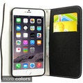 Gearonic Zipper PU Leather Wallet Case Cover for Apple iPhone 6 Plus 5.