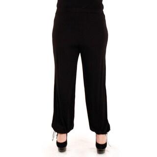 Women's Plus Size Black Loose Dress Pants